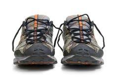 Zapatillas de deporte gastadas del entrenamiento Imagen de archivo libre de regalías