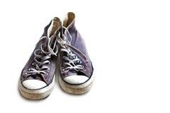 Zapatillas de deporte llevadas viejas Fotografía de archivo libre de regalías