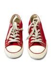 Zapatillas de deporte rojas Foto de archivo libre de regalías