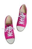 Zapatillas de deporte rosadas. foto de archivo libre de regalías