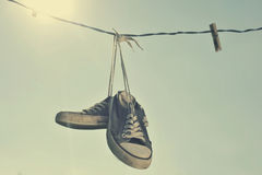 Zapatillas de deporte sucias Imagen de archivo libre de regalías
