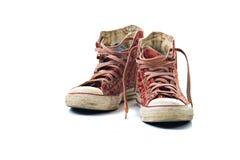 Zapatillas de deporte viejas imagen de archivo libre de regalías