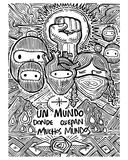 Zapatists mexican soldiers illustration Stock Photography