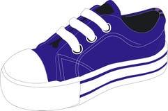 Zapato atlético azul Imagen de archivo libre de regalías