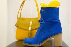 Zapato azul Fotos de archivo libres de regalías