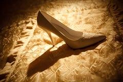 Zapato blanco Imagenes de archivo