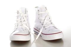 Zapato blanco Fotografía de archivo