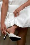 Zapato blanco Fotos de archivo libres de regalías