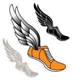 Zapato con alas de la pista Imagen de archivo