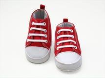 Zapato-corredores del bebé fotos de archivo libres de regalías