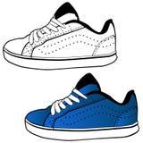 Zapato corriente stock de ilustración