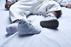 Zapato de bebé Imagenes de archivo