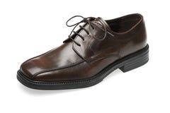 Zapato de cuero de Brown Imagen de archivo libre de regalías