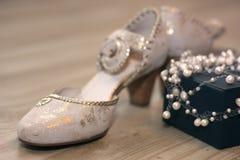 Zapato de la boda fotos de archivo