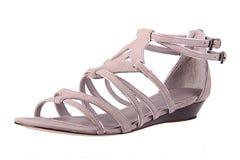 Zapato de la manera de Womans en blanco Fotos de archivo libres de regalías
