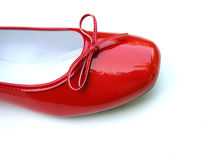 Zapato de la mujer roja Imagen de archivo libre de regalías