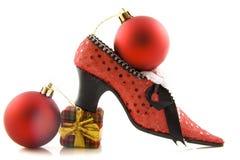 Zapato de la Navidad Fotografía de archivo