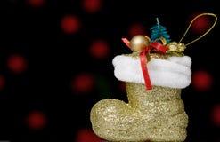Zapato de la Navidad Imágenes de archivo libres de regalías