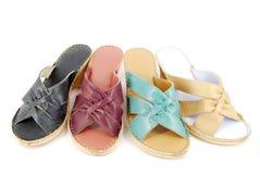 Zapato de la sandalia del verano de la mujer Imagen de archivo libre de regalías