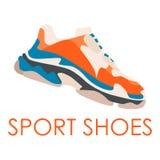 Zapato de la zapatilla de deporte Concepto Diseño plano Ilustración del vector Zapatillas de deporte en estilo plano ilustración del vector