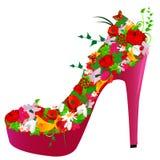 Zapato de las flores Imágenes de archivo libres de regalías