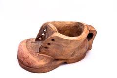 Zapato de madera viejo Imágenes de archivo libres de regalías