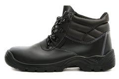 Zapato de seguridad negro Fotografía de archivo libre de regalías