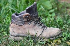 Zapato de trabajo polvoriento Foto de archivo libre de regalías