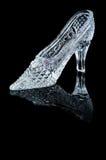 Zapato del cristal de la mujer Fotografía de archivo libre de regalías