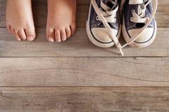 Zapato del niño Fotografía de archivo libre de regalías