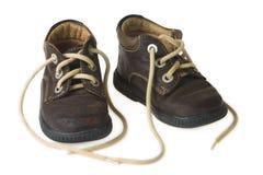 Zapato del niño de Brown imágenes de archivo libres de regalías