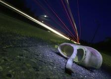 Zapato del niño después del accidente Fotos de archivo