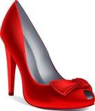 Zapato del rojo del vector Fotos de archivo libres de regalías