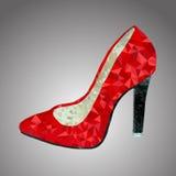 Zapato del rojo del vector Fotografía de archivo libre de regalías