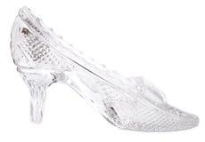 Zapato del vidrio de la mujer Imágenes de archivo libres de regalías