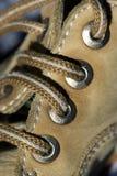 Zapato - detalle de los cordones fotos de archivo libres de regalías