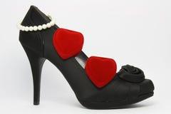 Zapato elegante negro Fotografía de archivo