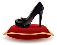 Zapato en la almohadilla, vector   Fotos de archivo