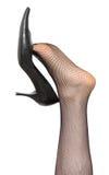Zapato en la pierna de la mujer Fotografía de archivo