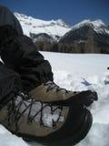 Zapato en nieve en el Tirol/el Tyrol Foto de archivo libre de regalías