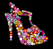 Zapato floral libre illustration