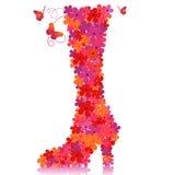 Zapato floral del vector Fotografía de archivo
