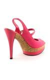 Zapato fresco rosado de la mujer Foto de archivo