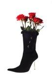 Zapato lindo de la mujer con las rosas Fotos de archivo libres de regalías
