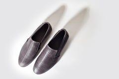 Zapato masculino desde arriba Fotografía de archivo libre de regalías