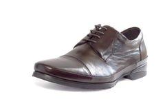 Zapato masculino en blanco Fotografía de archivo