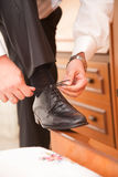 Zapato negro Foto de archivo libre de regalías