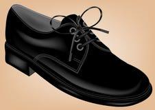 Zapato negro Imagen de archivo libre de regalías