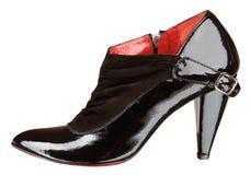 Zapato negro del womenstyle imágenes de archivo libres de regalías