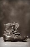 Zapato pionero del niño de la vendimia Foto de archivo libre de regalías